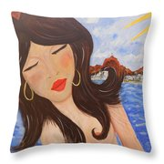 Bella En Rio Throw Pillow