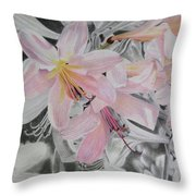 Belladonna Lilies Throw Pillow