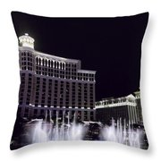 Bellagio And Caesars Palace Throw Pillow