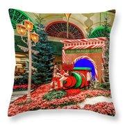 Bellagio Christmas Train Decorations Angled 2017 2 To 1 Aspect Ratio Throw Pillow