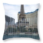 Bellagio Fountain 1 Throw Pillow