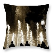Bellagio Fountain At Night Throw Pillow