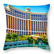 Bellagio Hotel And Casino Throw Pillow