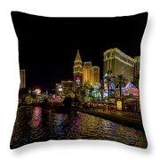 Bellagio On The Las Vegas Strip Throw Pillow