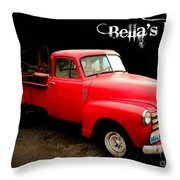 Bella's Ride Throw Pillow