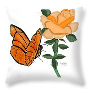 Belle And Flower Throw Pillow
