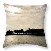 Belle Isle Lake Throw Pillow