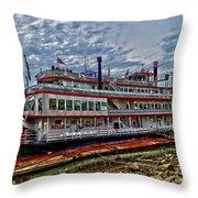 Belle Of Cincinnati Throw Pillow by Keith Allen