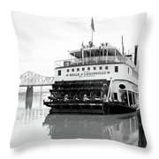 Belle Of Louisville Docked Throw Pillow