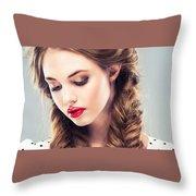 Belle Silk Throw Pillow