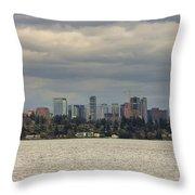 Bellevue Skyline Along Lake Washington Throw Pillow