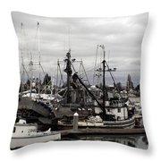 Bellingham Bay Ship Yard Throw Pillow