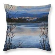 Bellingham In Winter Throw Pillow