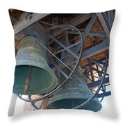 Bells Of Torre Dei Lamberti - Verona Italy Throw Pillow