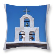 Bells - San Xavier Del Bac - Arizona Throw Pillow