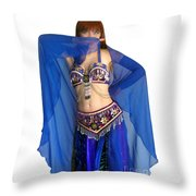 Belly Dance Modeling. Sofia Of Ameynra Throw Pillow