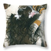 Belly Dancer And The Mirror Throw Pillow