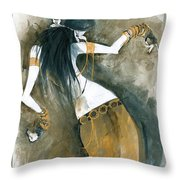 Inspired By Zoe Jakes Throw Pillow