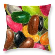 Belly Jelly Throw Pillow
