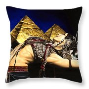 Bellydance Of The Pyramids - Rachel Brice Throw Pillow