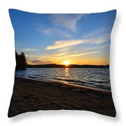 Belmont Nh Beach Throw Pillow