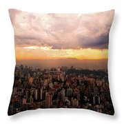 Belo Horizonte - The Cityscape From Above Throw Pillow