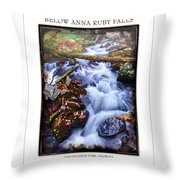 Below Anna Ruby Falls Throw Pillow