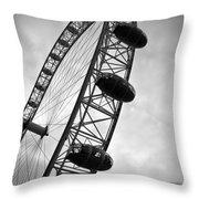 Below London's Eye Bw Throw Pillow by Kamil Swiatek