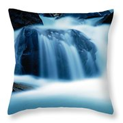 Below Tak Falls Throw Pillow