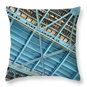 Below The Bridge Throw Pillow