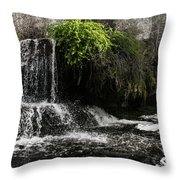 Below The Dam  Throw Pillow