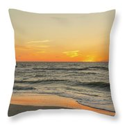 Below The Horizon Throw Pillow