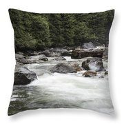 Below The Torrent   Throw Pillow