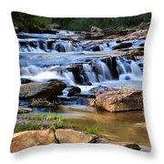Below Toccoa Falls Throw Pillow
