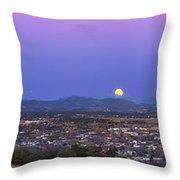 Belt Of Venus And Full Moon Rising Throw Pillow