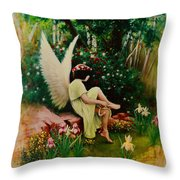 Beltaine Angel Throw Pillow