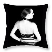 Belted 2 - Self Portrait Throw Pillow