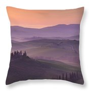 Belvedere And Tuscan Countryside Throw Pillow