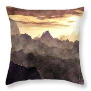 Belzoni Mountain Range Throw Pillow