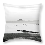 Bembridge Lifeboat Station From St Helens Throw Pillow