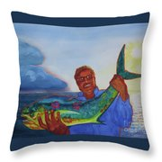 Ben And The Dolphin Fish Throw Pillow
