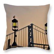 Ben Franklin Bridge In Early Morning Throw Pillow