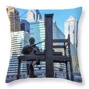 Ben Franklin Printing Press - Philadelphia Throw Pillow
