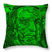 Ben In Wood Green Throw Pillow