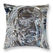 Ben In Wood Negative Art Throw Pillow