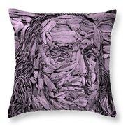 Ben In Wood Pink Throw Pillow