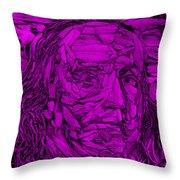 Ben In Wood Purple Throw Pillow