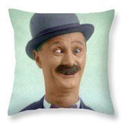 Ben Turpin, Vintage Comedy Actor Throw Pillow