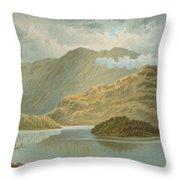 Ben Venue And Ellen's Isle   Loch Katrine Throw Pillow