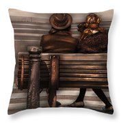 Bench - A Couple Out Of Time Throw Pillow